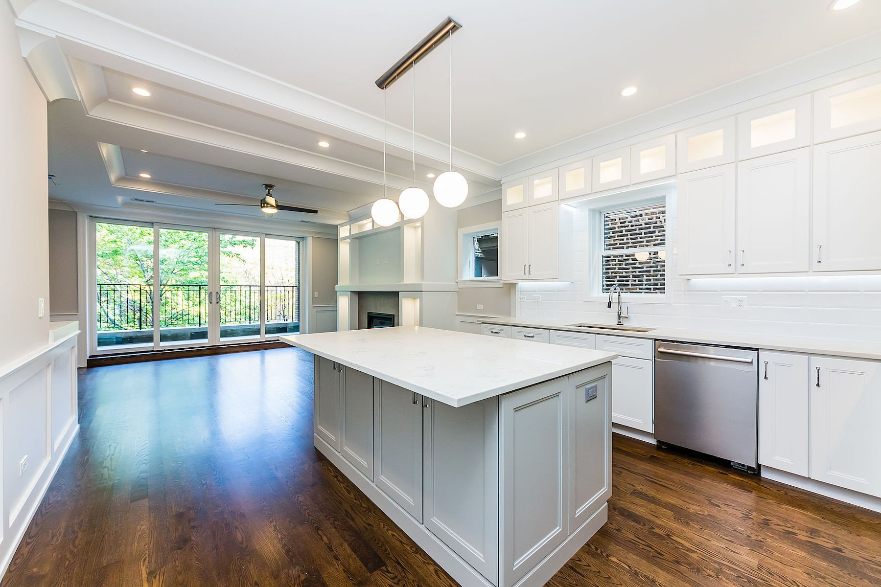 modern kitchen remodel custom cabinets lakeview lincoln park chicago