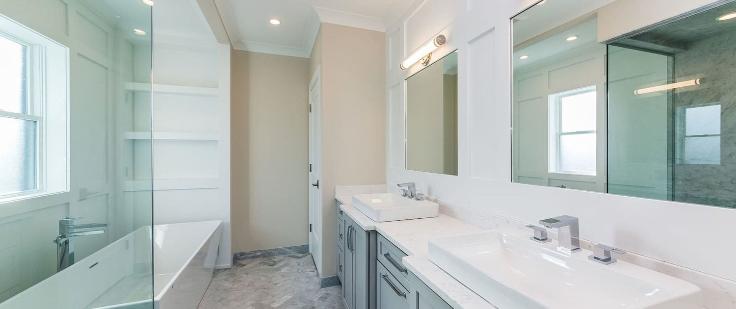 spa bathroom remodel soaker tub custom cabinets lakeview lincoln park chicago il