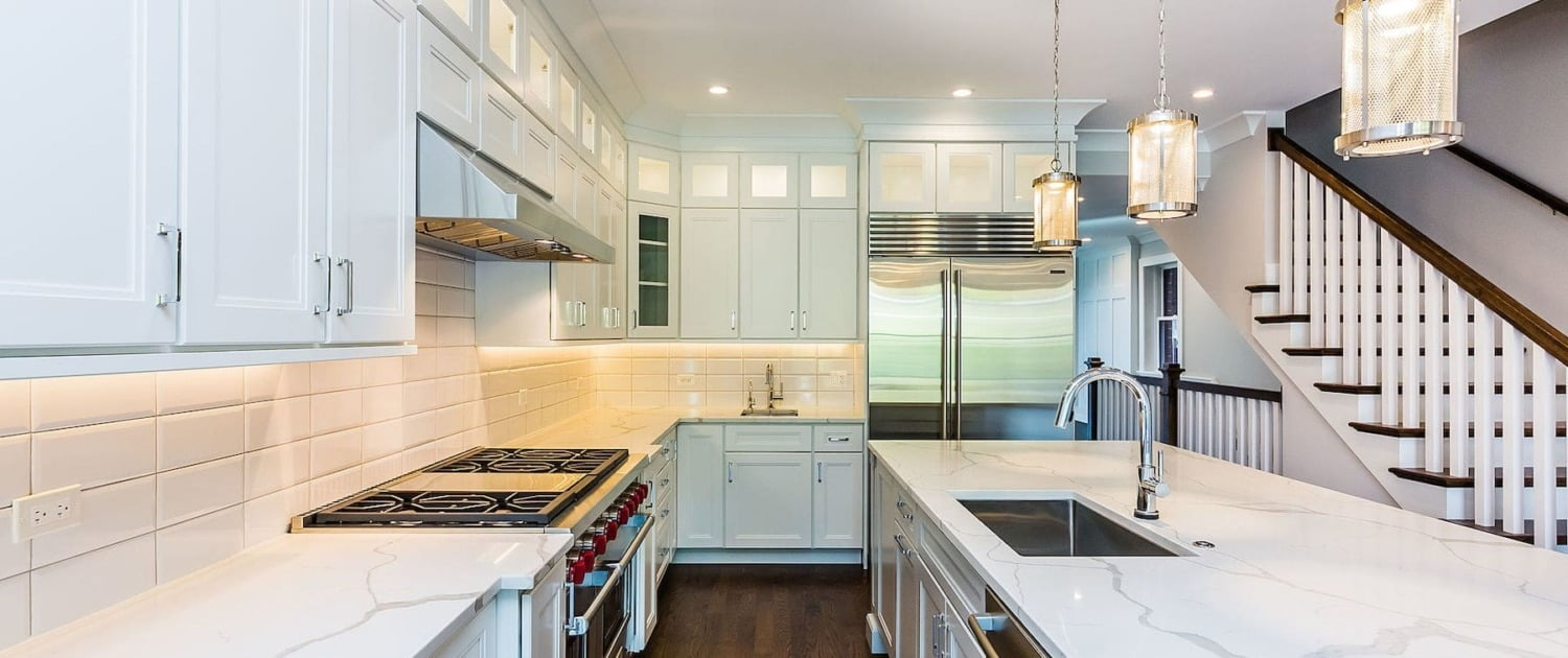 Modern Kitchen Renovation custom cabinets lakeview lincoln park chicago