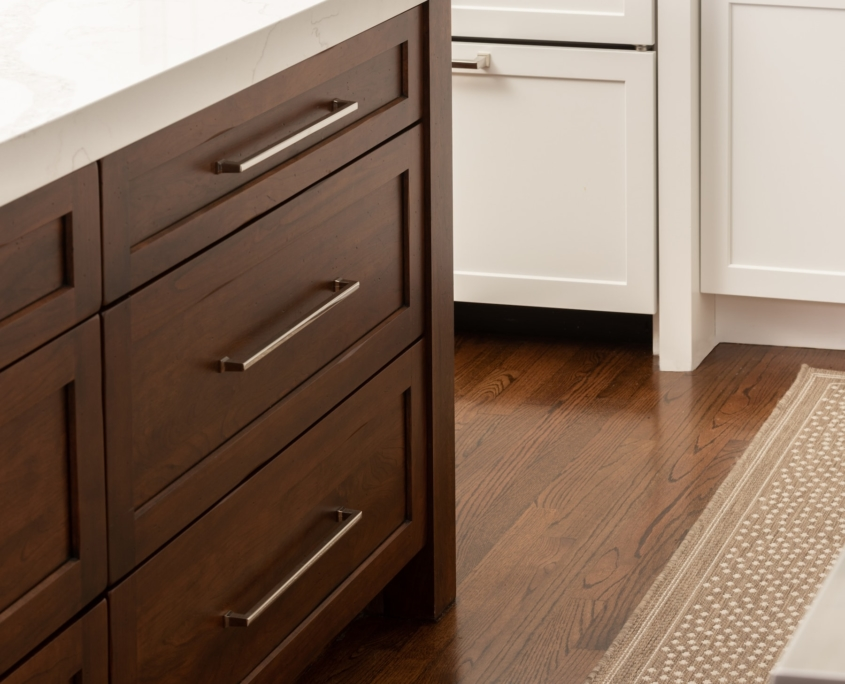 transitional kitchen with island custom cabinetry roscoe village chicago il