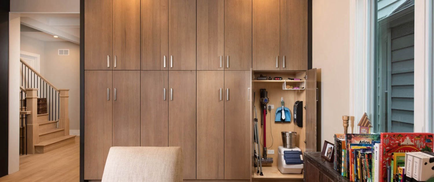 Floor To Ceiling Living Room Cabinets Dura Supreme Chicago IL Irving Park
