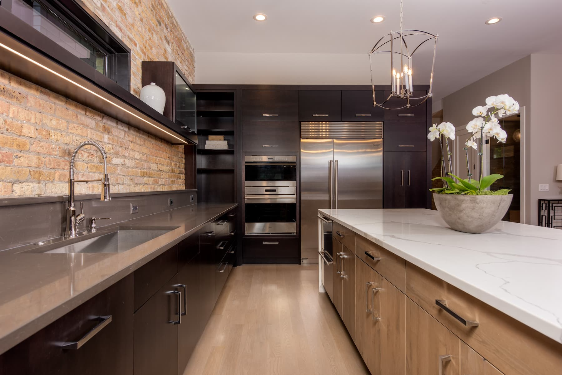Renovated Kitchen New Island Cabinets Lincoln Park Chicago