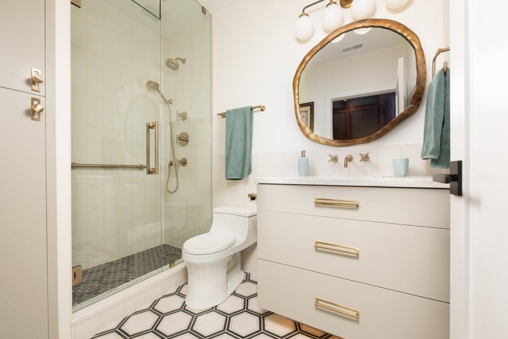 Renovated Bathroom Cabinets West Loop Chicago IL