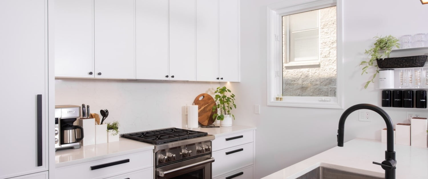 interior design transitional kitchen remodel with stainless steel appliances Chicago il